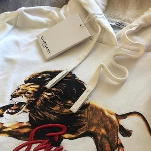 RARE// GIVENCHY®️PARIS LEO FUR HOODIE LION SWEATER